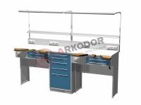 Стол зуботехнический на два рабочих места AR-E22