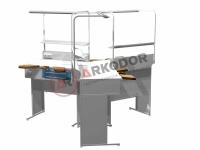 Стол зуботехнический на три рабочих места AR-E23
